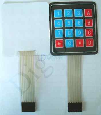4x4 Matrix 16 Key Membrane Switch Keypad Keyboard New For Arduinoavrpicarm
