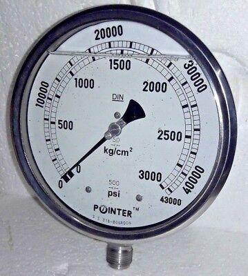 High Pressure Gauge Dual Scale 0-3000 Bar 0-43000 Psi