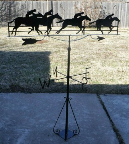 Weather Vane 4 Galloping Horses Vintage