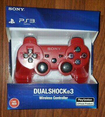 BRAND NEW Sony PS3 Playstation DualShock 3 Wireless Controller DEEP RED CECHZC2U