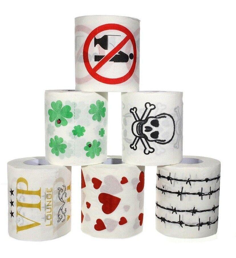 Toilettenpapier mit verrückten Motiven Geschenk Klopapier Toipa Scherz 124189013