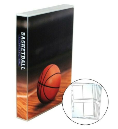 Basketball Card Storage Binder, With 25 Platinum 4 Pocket Pages, Holds 200 Cards