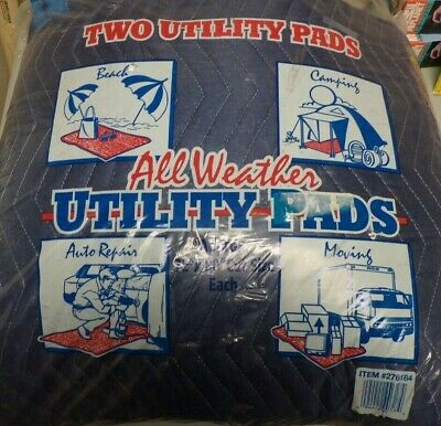 New Haven Moving Equipment All Weather Utility Pads 2pk Blue 72x80