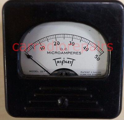 Triplet Model 227dc Ampere Current Micrometer Vintage