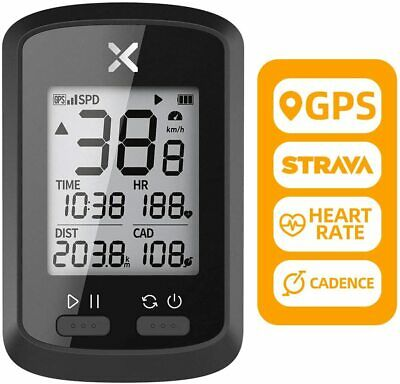 XOSS G+ GPS SMART BIKE CYCLING COMPUTER Bluetooth LCD Display Waterproof IPX7 UK