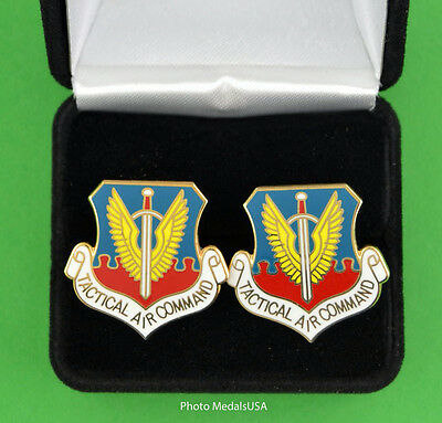 TACTICAL AIR COMMAND  AIR FORCE Cuff Links in Gift Box - USAF TAC cufflinks