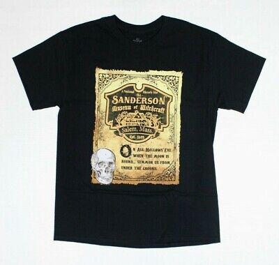 Disney Hocus Pocus Sanderson Salem Mass Halloween Black T-Shirt New! - Halloween People