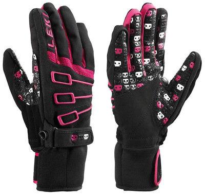 Pink Ski Gloves - NEW $120 Leki Space Invaders S Insulated Ski Gloves Winter Mens Black Pink White