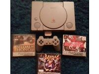 PS1 FOR SALE Includes 4 games Tested fully working comes with controller memory card and all leads