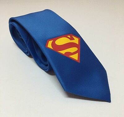 Superman Blue Necktie  Really Cool  New   Great Quality