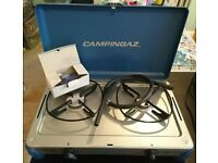 Camping Gaz kitchen - 2 ring camping stove As new,never used