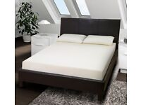 🔥🔥FREE & FAST DELIVERY🔥🔥FAUX LEATHER BED FRAME IN SINGLE,SMALL DOUBLE,DOUBLE & KING SIZE