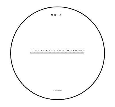 #792 Skala / Scale 20/200 mm. No. 8 Ø 35 mm.  for measuring magnifier / Messlupe