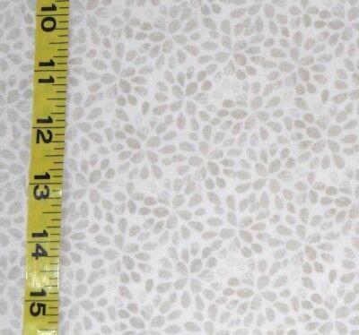 Fabric Jo Ann Quilt Blocks Ocean Breeze  Tan Leaf Tonal  100  Cotton 1 5 Yds