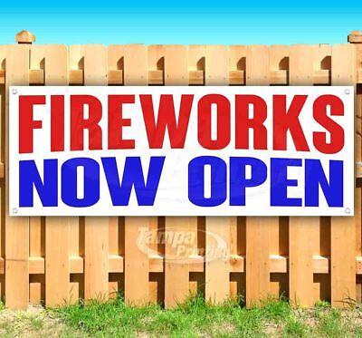 Fireworks Now Open Advertising Vinyl Banner Flag Sign Many Sizes
