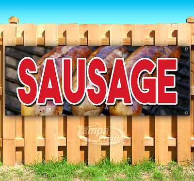 SAUSAGE Advertising Vinyl Banner Flag Sign Many Sizes USA CARNIVAL FAIR FOOD