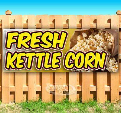 Fresh Kettle Corn Advertising Vinyl Banner Flag Sign Many Sizes Carnival Food