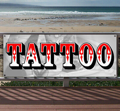 Tattoo Advertising Vinyl Banner Flag Sign Many Sizes Available Usa