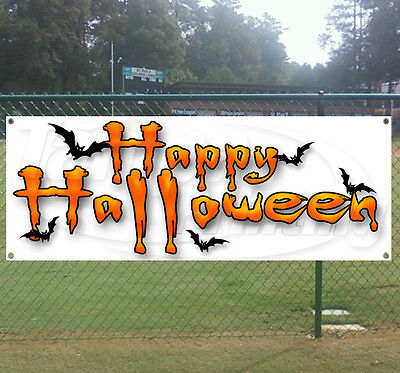 Halloween Vinyl Banners (HAPPY HALLOWEEN Advertising Vinyl Banner Flag Sign - Many Sizes)