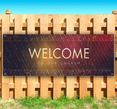 WELCOME TO OUR CHURCH Advertising Vinyl Banner Flag Sign Many Sizes - Welcome To Church