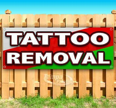 Tattoo Removal Advertising Vinyl Banner Flag Sign Many Sizes Available Body Art