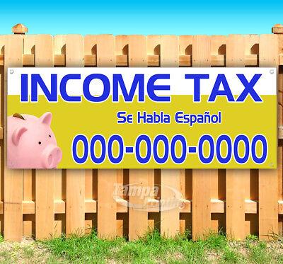 Income Tax Se Habla Espanol Advertising Vinyl Banner Flag Sign Many Sizes Usa