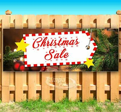 CHRISTMAS SALE Advertising Vinyl Banner Flag Sign Many Sizes USA HOLIDAYS DEALS ()