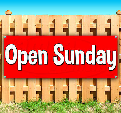 Open Sunday Advertising Vinyl Banner Flag Sign Many Sizes Available Usa