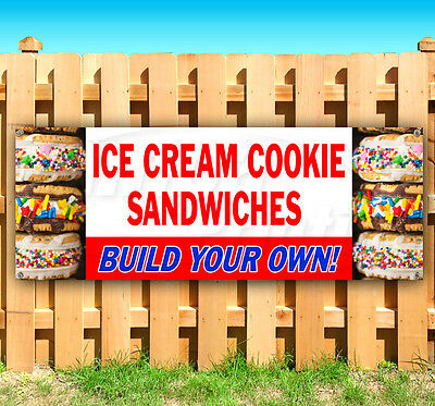Ice Cream Cookie Sandwiches Build Your Own Advertising Vinyl Banner Flag Sign