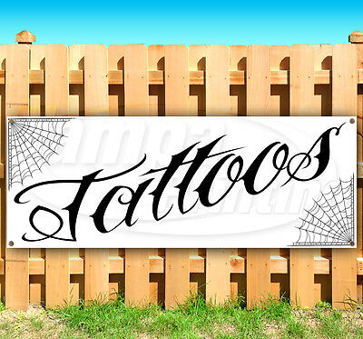 Tattoos Advertising Vinyl Banner Flag Sign Many Sizes Available Usa