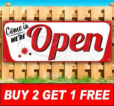 Buy Two Get One Free Open Advertising Vinyl Banner Flag Sign Many Sizes Business