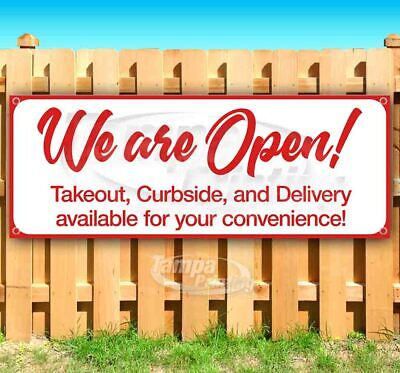 We Are Open For Your Convenience Advertising Vinyl Banner Flag Sign Usa Business