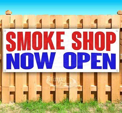 Smoke Shop Now Open Advertising Vinyl Banner Flag Sign Many Sizes