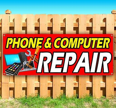 Phone   Computer Repair Advertising Vinyl Banner Flag Sign Many Sizes Available