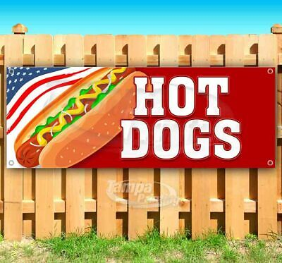 Hot Dogs Advertising Vinyl Banner Flag Sign Many Sizes Usa Business Food