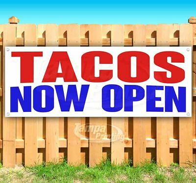 Tacos Now Open Advertising Vinyl Banner Flag Sign Many Sizes