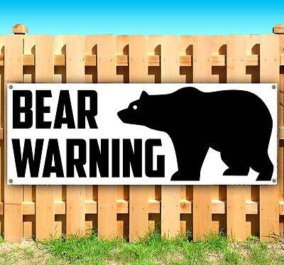 Bear Warning Advertising Vinyl Banner Flag Sign Many Sizes Available Rent Usa