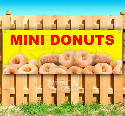 Mini Donuts Advertising Vinyl Banner Flag Sign Many Sizes Available Usa Treats