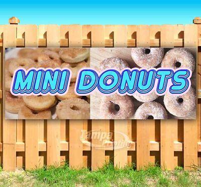 Mini Donuts Advertising Vinyl Banner Flag Sign Many Sizes