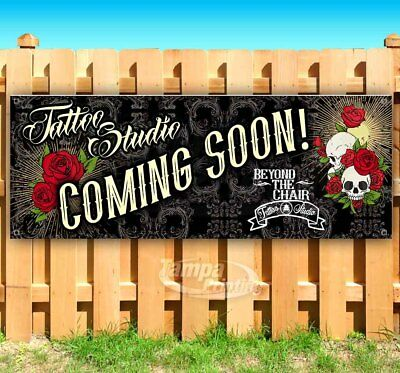Customizable Tattoo Shop Studio Advertising Vinyl Banner Flag Sign Many Sizes
