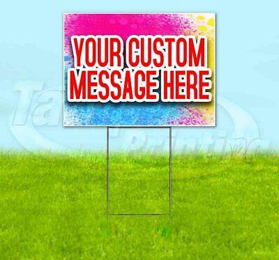 Custom Yard Sign Corrugated Plastic Bandit Lawn Decorations Usa