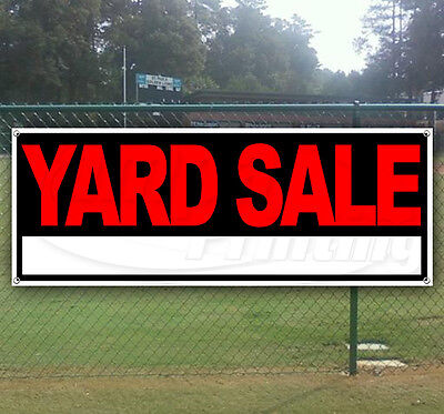 YARD SALE Advertising Vinyl Banner Flag Sign - Many Sizes Available - USA