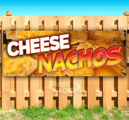 CHEESE NACHOS Advertising Vinyl Banner Flag Sign Many Sizes CARNIVAL FAIR FOOD