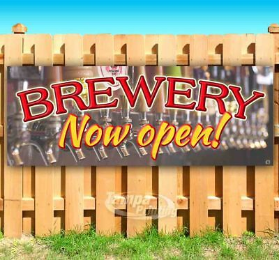Brewery Now Open Advertising Vinyl Banner Flag Sign Many Sizes