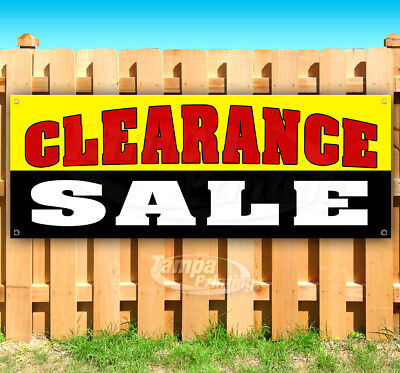 Clearance Sale Advertising Vinyl Banner Flag Sign Many Sizes