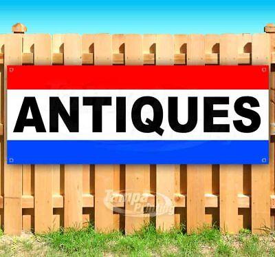 Antiques Advertising Vinyl Banner Flag Sign Car Dealership