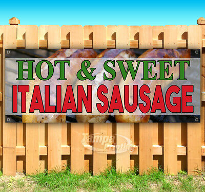 HOT & SWEET SAUSAGE Advertising Vinyl Banner Flag Sign Many Sizes FAIR FOOD