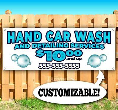 Hand Car Wash Custom Phone Advertising Vinyl Banner Flag Sign Many Sizes Usa