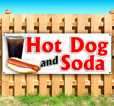 Hot Dog And Soda Advertising Vinyl Banner Flag Sign Many Sizes Usa