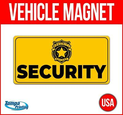 Security Heavy Duty Vehicle Magnet Truck Car Sticker Decal Sign Caution Badge